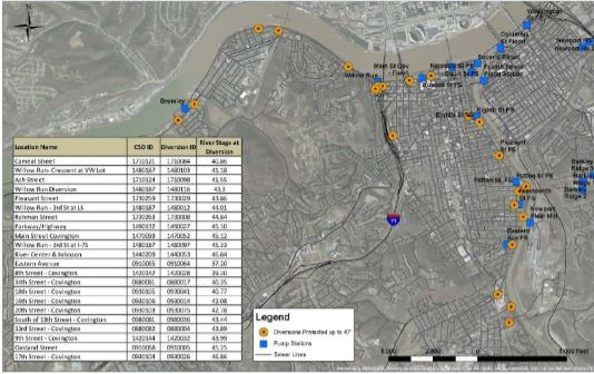 River Water Intrusion Map